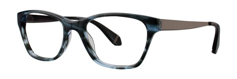 Zac Posen URSULA Blue Horn Eyeglasses Size53-17-140.00