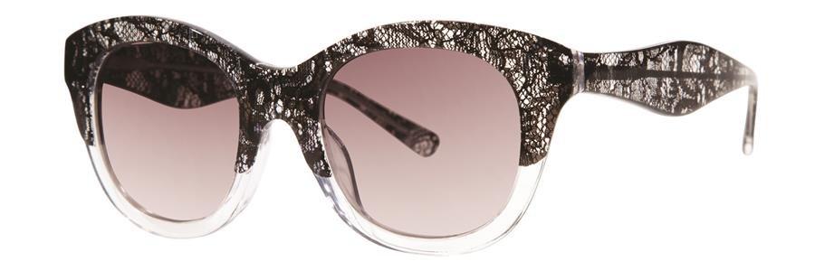 Vera Wang V283 Black Lace Sunglasses Size49-20-140.00