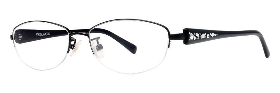 Vera Wang VA02 Black Eyeglasses Size51-15-133.00