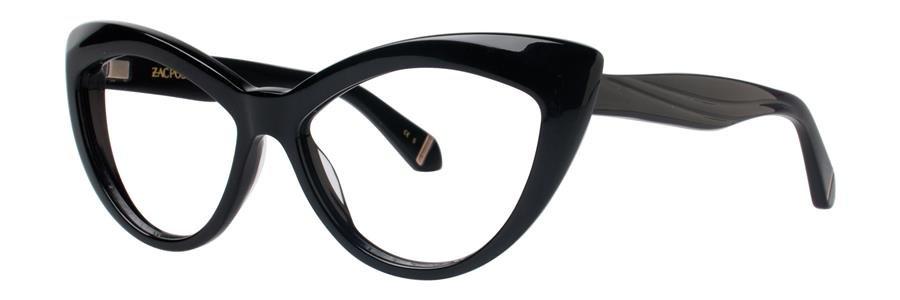 Zac Posen VERUSHKA Black Eyeglasses Size54-14-140.00