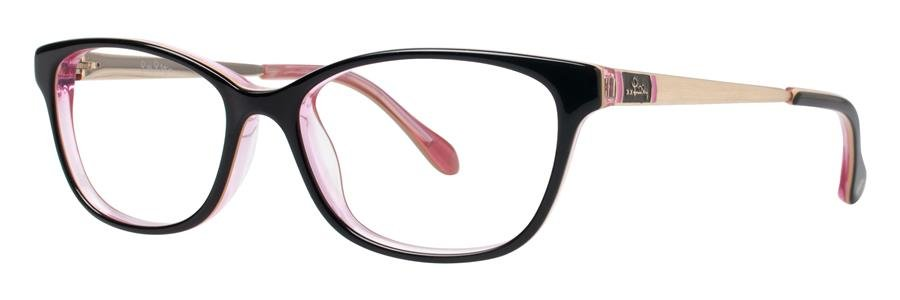 Lilly Pulitzer WAKELY Black Eyeglasses Size49-15-135.00