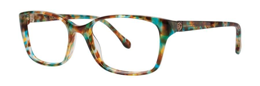 Lilly Pulitzer WESTLEY Aqua Tortoise Eyeglasses Size49-16-135.00