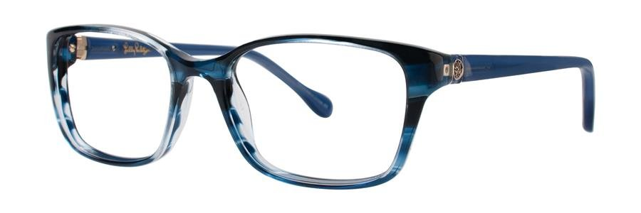Lilly Pulitzer WESTLEY Navy Havana Eyeglasses Size51-16-135.00