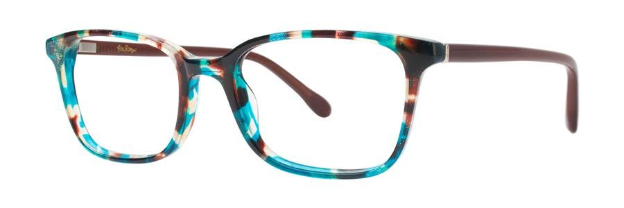 Lilly Pulitzer WITHERBEE Aqua Tortoise Eyeglasses Size51-17-135.00