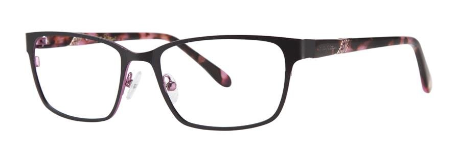 Lilly Pulitzer YARDLEY Black Eyeglasses Size52-17-135.00