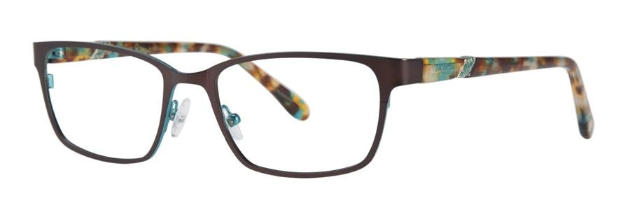 Lilly Pulitzer YARDLEY Brown Eyeglasses Size50-17-135.00