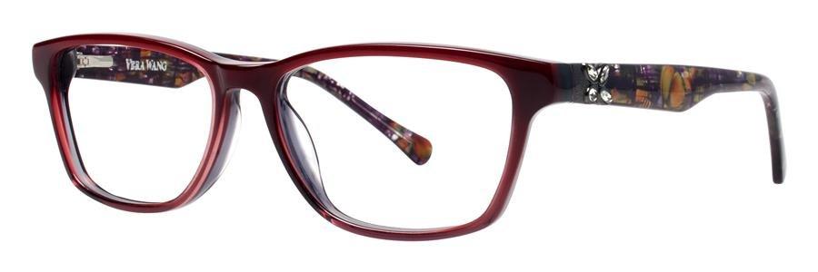 Vera Wang ZIPPORAH Burgundy Eyeglasses Size51-15-132.00