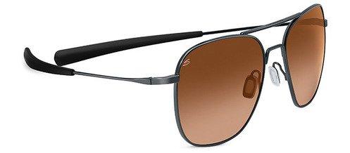 Serengeti Aerial Shiny Gunmetal  Sunglasses