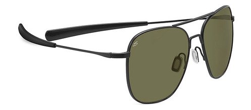 Serengeti Aerial Satin Black  Sunglasses