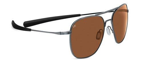 Serengeti Aerial Shiny Hematite  Sunglasses