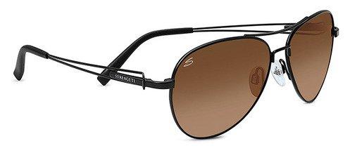 Serengeti Brando Satin Black  Sunglasses