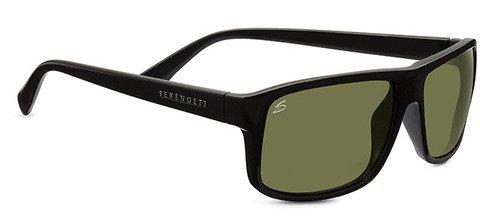 Serengeti Claudio Shiny Black  Sunglasses