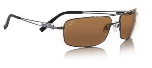 Serengeti Dante Shiny Gunmetal  Sunglasses