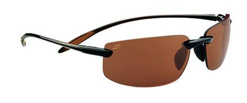 Serengeti Lipari Shiny Brown  Sunglasses