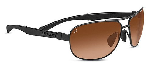Serengeti Norcia Satin Black Sunglasses