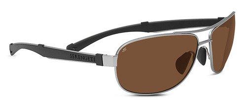 Serengeti Norcia Satin Silver Sunglasses