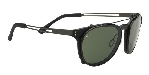 Serengeti Palmiro Satin Black  Sunglasses