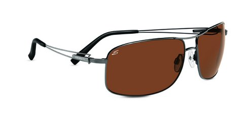 Serengeti Sassari Shiny Gunmetal  Sunglasses