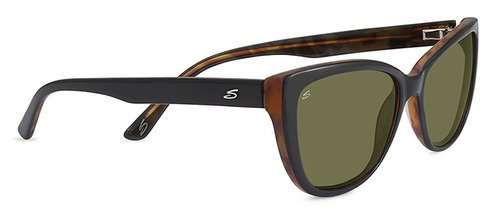 Serengeti Sophia Shiny Black Sunglasses