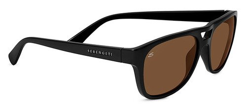 Serengeti Tommaso Shiny Black  Sunglasses