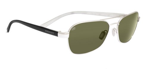 Serengeti Volterra Shiny Silver  Sunglasses