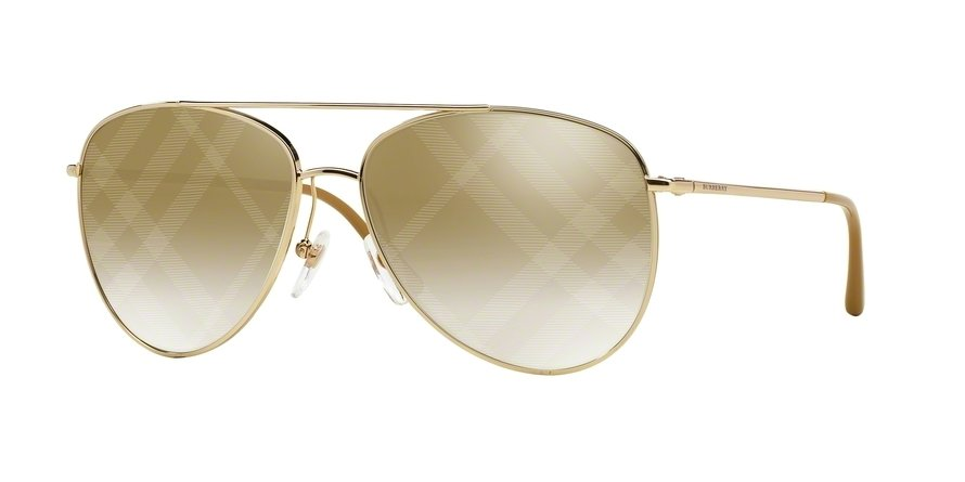 Burberry 0BE3072 Gold Sunglasses