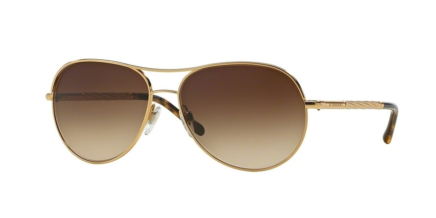 Burberry 0BE3082 Gold Sunglasses