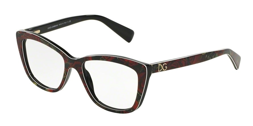 Dolce & Gabbana 0DG3190 PRINTING ROSES ON BLACK Eyeglasses