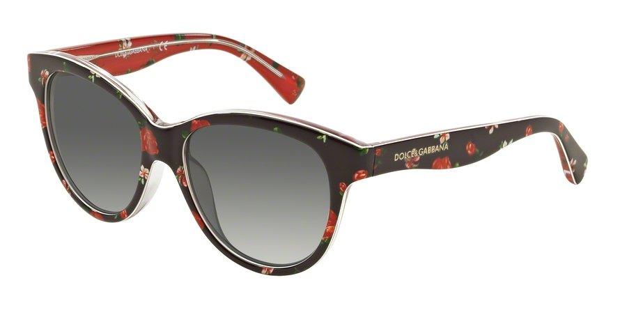 Dolce & Gabbana 0DG4176 ROSEFLOWERS ON BLACK Sunglasses
