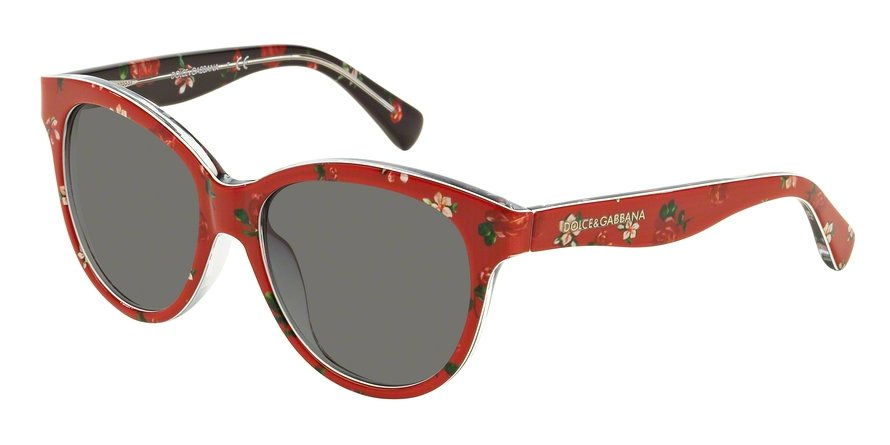 Dolce & Gabbana 0DG4176 ROSEFLOWERS ON RED Sunglasses