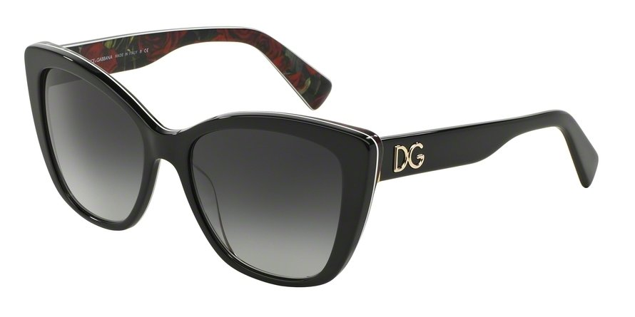 Dolce & Gabbana 0DG4216 BLACK ON PRINTING ROSES Sunglasses