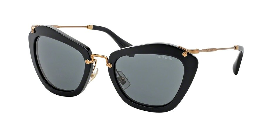 MU 0MU 10NS Black Sunglasses