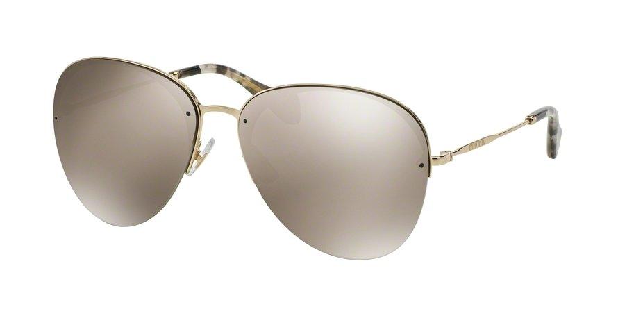 MU 0MU 53PS Gold Sunglasses