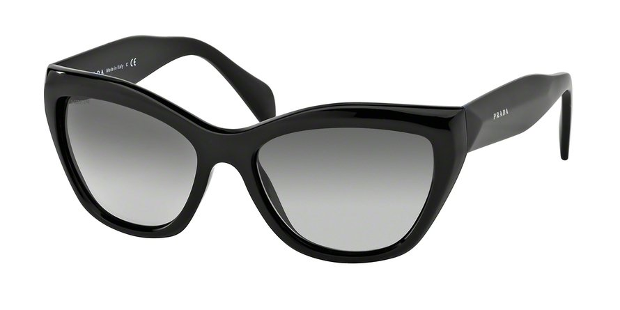 Prada 0PR 02QS Black Sunglasses