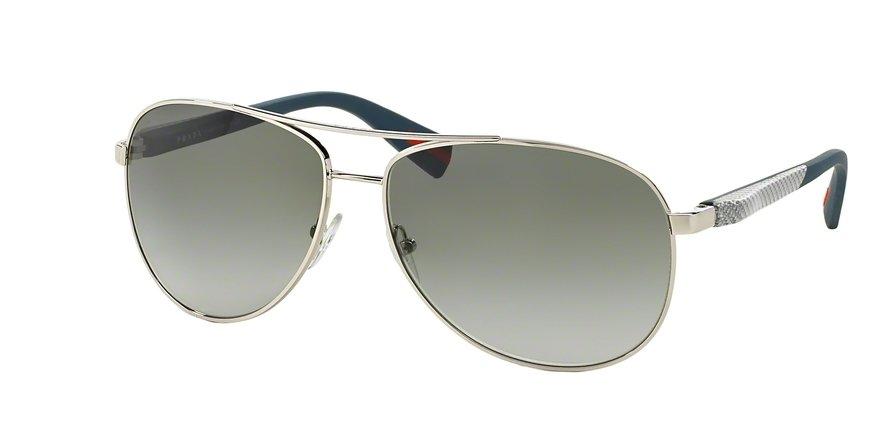 Prada Linea Rossa 0PS 51OS Silver Sunglasses