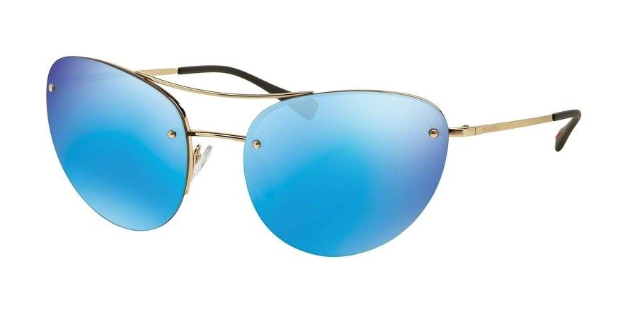 Prada Linea Rossa 0PS 51RS Gold Sunglasses