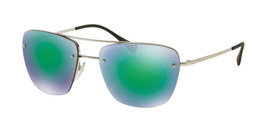 Prada Linea Rossa 0PS 52RS Silver Sunglasses