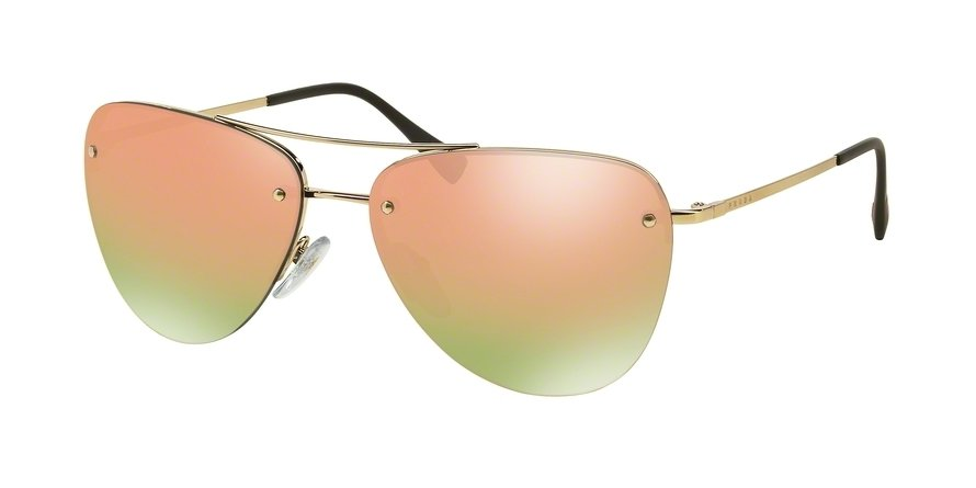 Prada Linea Rossa 0PS 53RS Gold Sunglasses