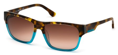 DIESEL DL0012 89F   - turquoise/other / gradient brown Plastic