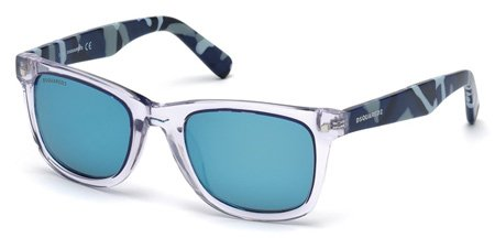DSQUARED2 DQ0171 PRESTON 26X   - crystal / blu mirror Plastic