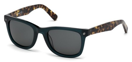 DSQUARED2 DQ0171 PRESTON 96A   - shiny dark green / smoke Plastic