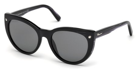 DSQUARED2 DQ0180 BETTY 01A   - shiny black  / smoke Plastic