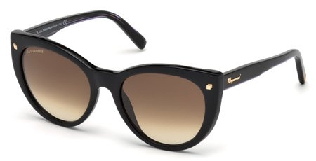 DSQUARED2 DQ0180 BETTY 01F   - shiny black  / gradient brown Plastic