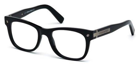 DSQUARED2 DQ45 DQ5145 001   - shiny black Plastic