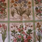9 Botanical  Flower Folio Pillow Quilt Panels Fabric