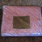 Ralph Lauren Purple Brittany Stripe Queen Flat Sheet with Ruffle
