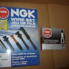 NGK Spark Plug Wires set Cables AND 4 NGK V-Power Spark Plugs TOYOTA Pickup Truck 4Runner 22R 22RE