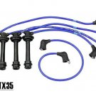 TX35 8143 NGK Spark Plug Wires set Cables 1985-1989 Toyota MR2 4A-GELC