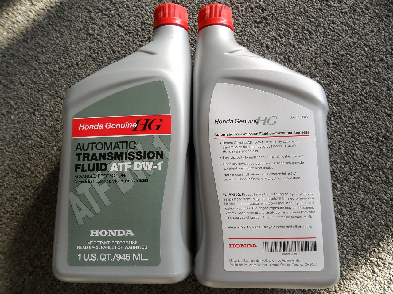 4 Quarts Honda Atf Dw1 Genuine Automatic Transmission Fluid For Acura Dw 1