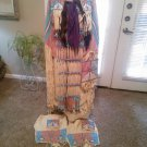 Native American Indian Buckskin and Velvet Pow Wow Regalia Dress